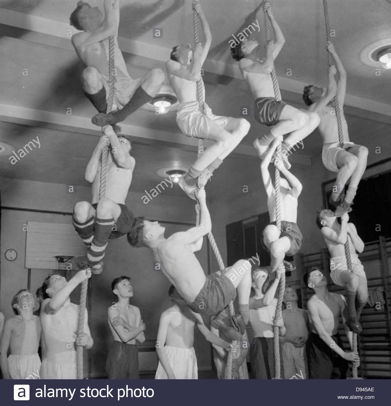 Uppingham - Corby Boys' Club, el entrenamiento físico y las actividades sociales en Corby, Northamptonshire, Imagen De Stock