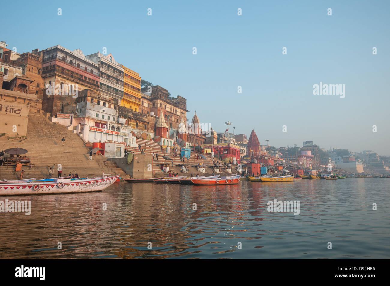 Ciudad santa de Varanasi, en India Imagen De Stock