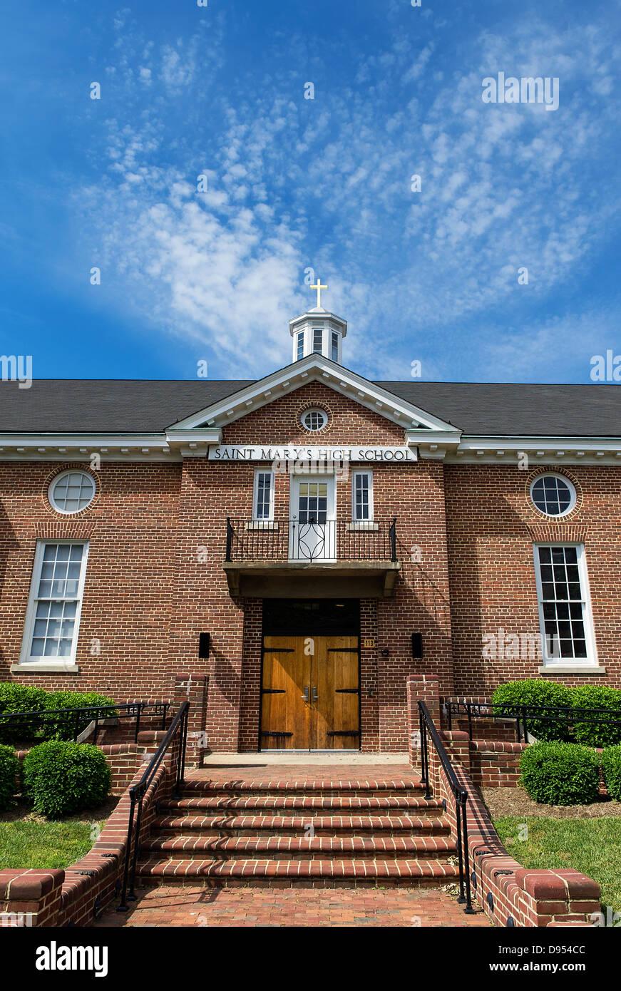 Saint Mary's High School, en Annapolis, Maryland, EE.UU. Imagen De Stock
