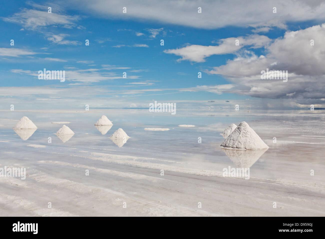 El Salar de Uyuni, Salar Tours, Altiplano, sudoeste de Bolivia Imagen De Stock