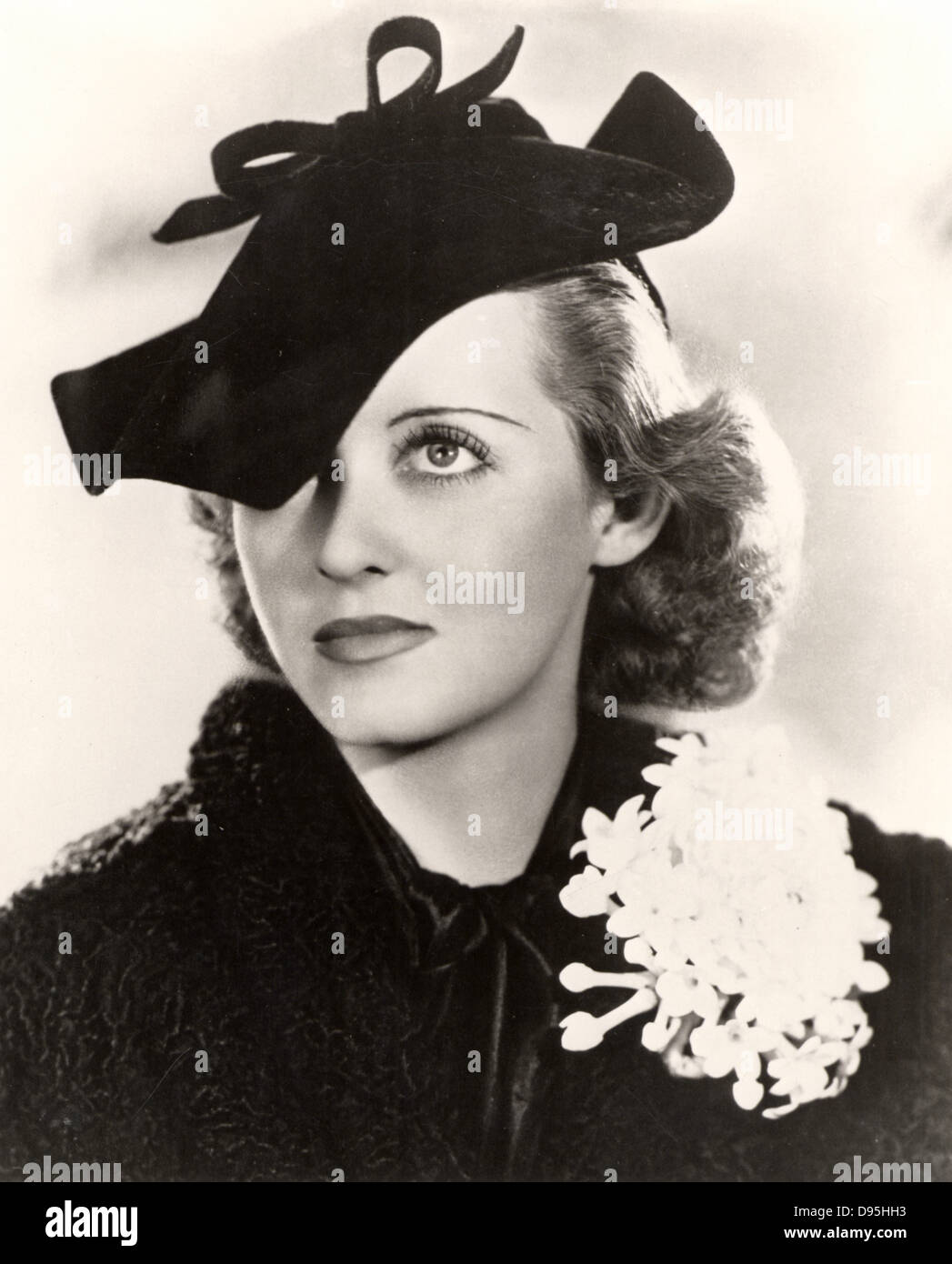 Bette Davis (1908-1989) American actriz de Hollywood y una estrella de cine. Fotografía. Imagen De Stock