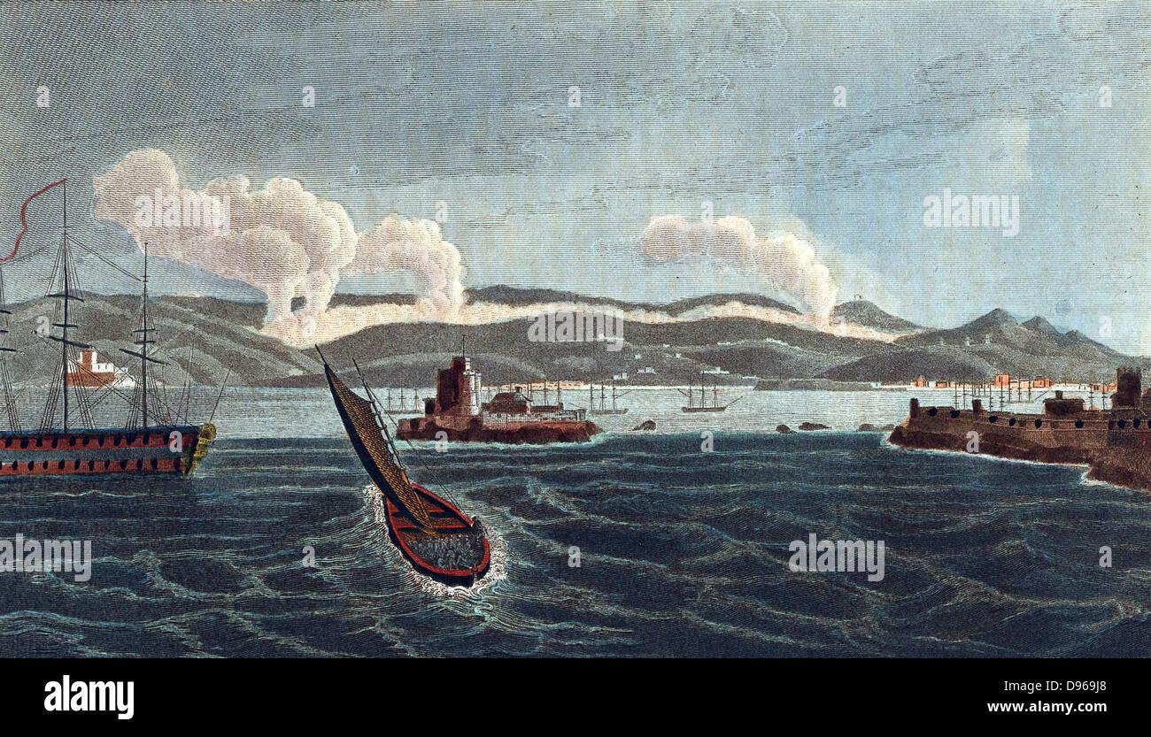 Las guerras napoleónicas: Campaña peninsular, la batalla de La Coruña (La Coruña), España, 16 de enero de 1809, Foto de stock