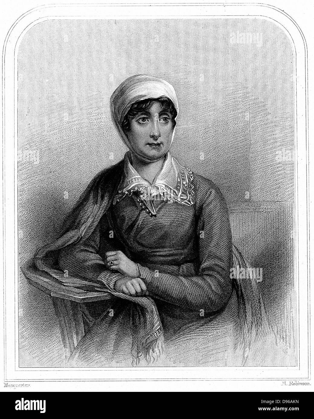 Joanna Baille (1762-1851), poeta y dramaturgo escocés. Grabado 1870 Imagen De Stock