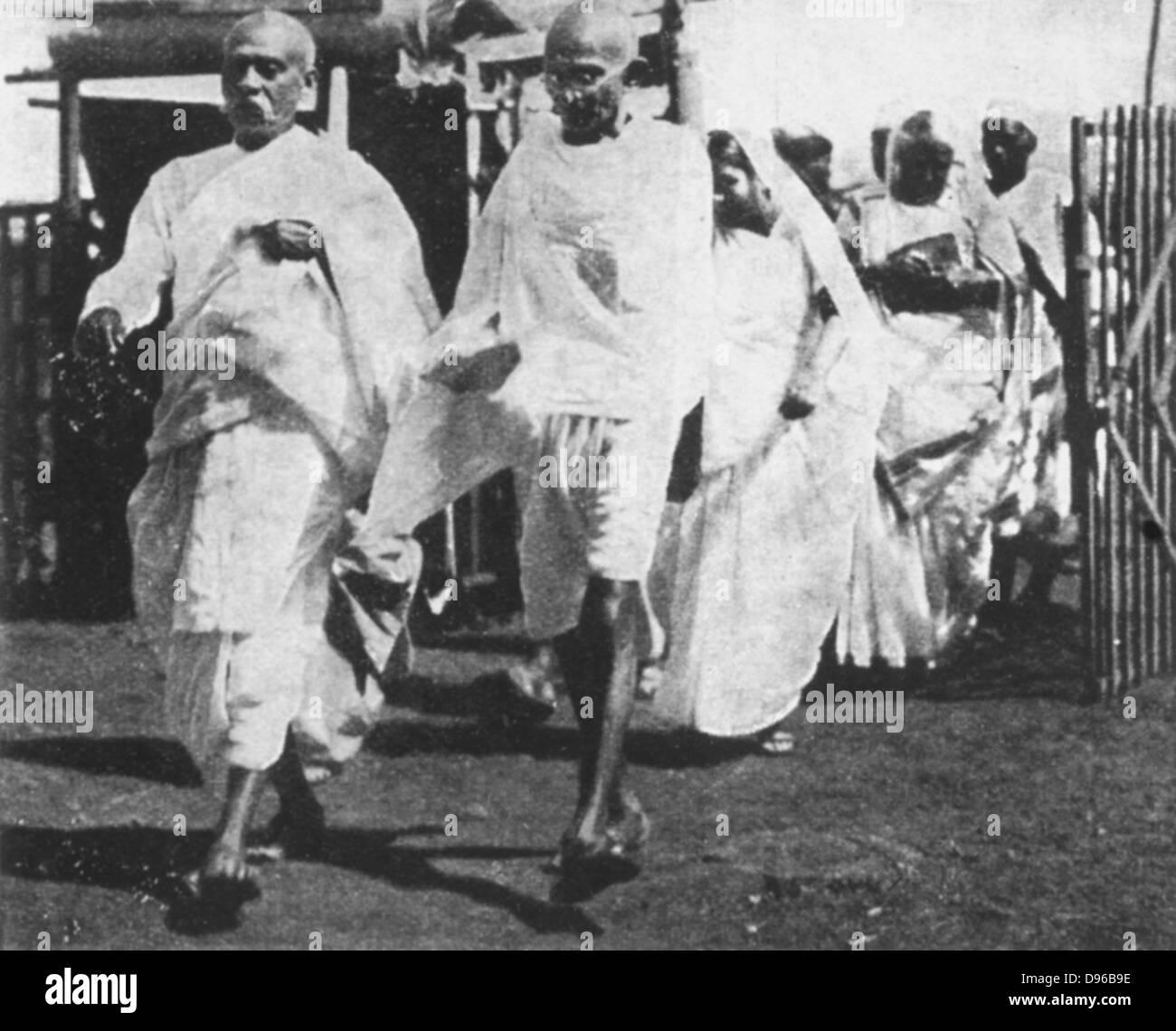 Mohondas Karamchand Gandhi (1869-1948), conocido como el Mahatma (gran Alma). El líder nacionalista indio. Gandhi Foto de stock