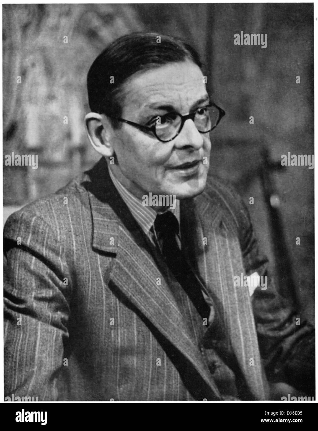 Thomas Stearns (TS) Eliot (1888-1965), poeta británico americano nacido el dramaturgo y crítico. Imagen De Stock