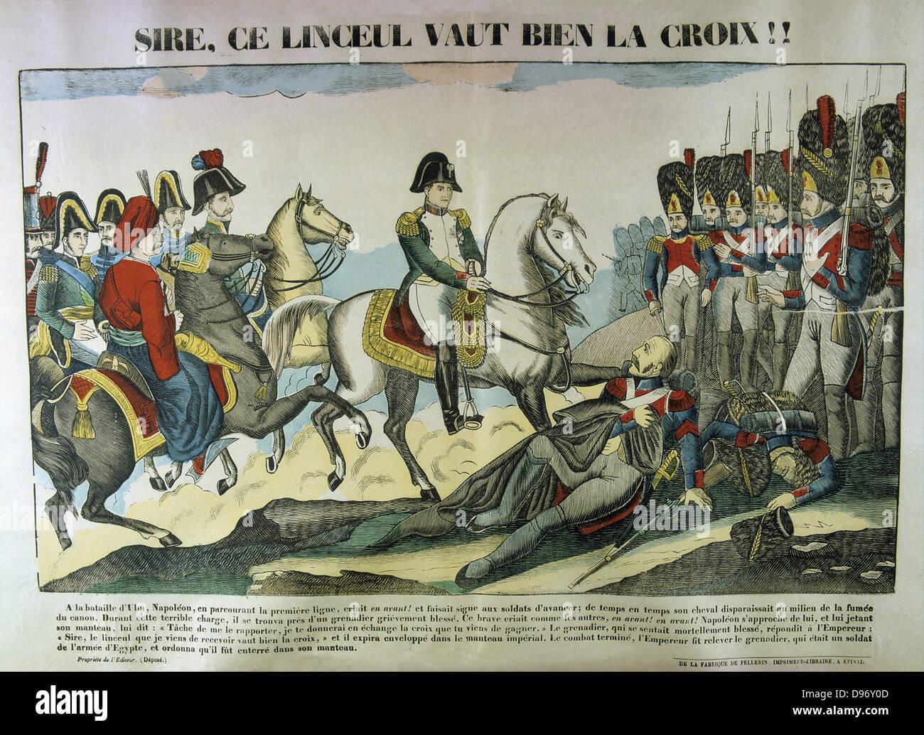 Napoleón I en la batalla de Ulm, 16-19 de octubre de 1805. El resultado fue una resonante victoria francesa Imagen De Stock