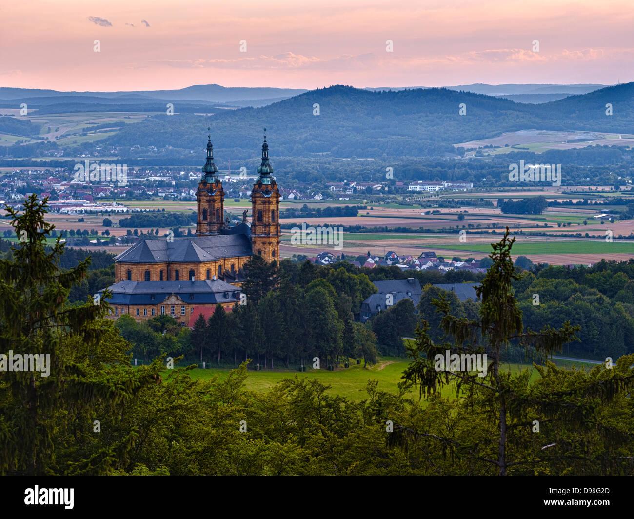 Basílica de los catorce Ayudantes Santo, Bad Staffelstein, Alta Franconia, Baviera, Alemania Imagen De Stock