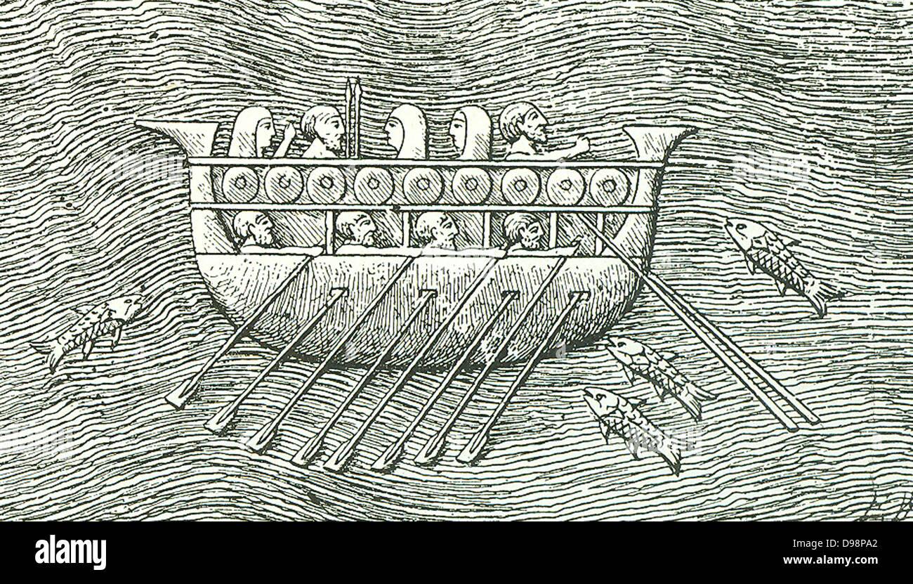 Un carguero Fenicia - barcos similares fueron utilizadas por el Faraón Necho. Aprox. (600 BC) para la travesía Imagen De Stock