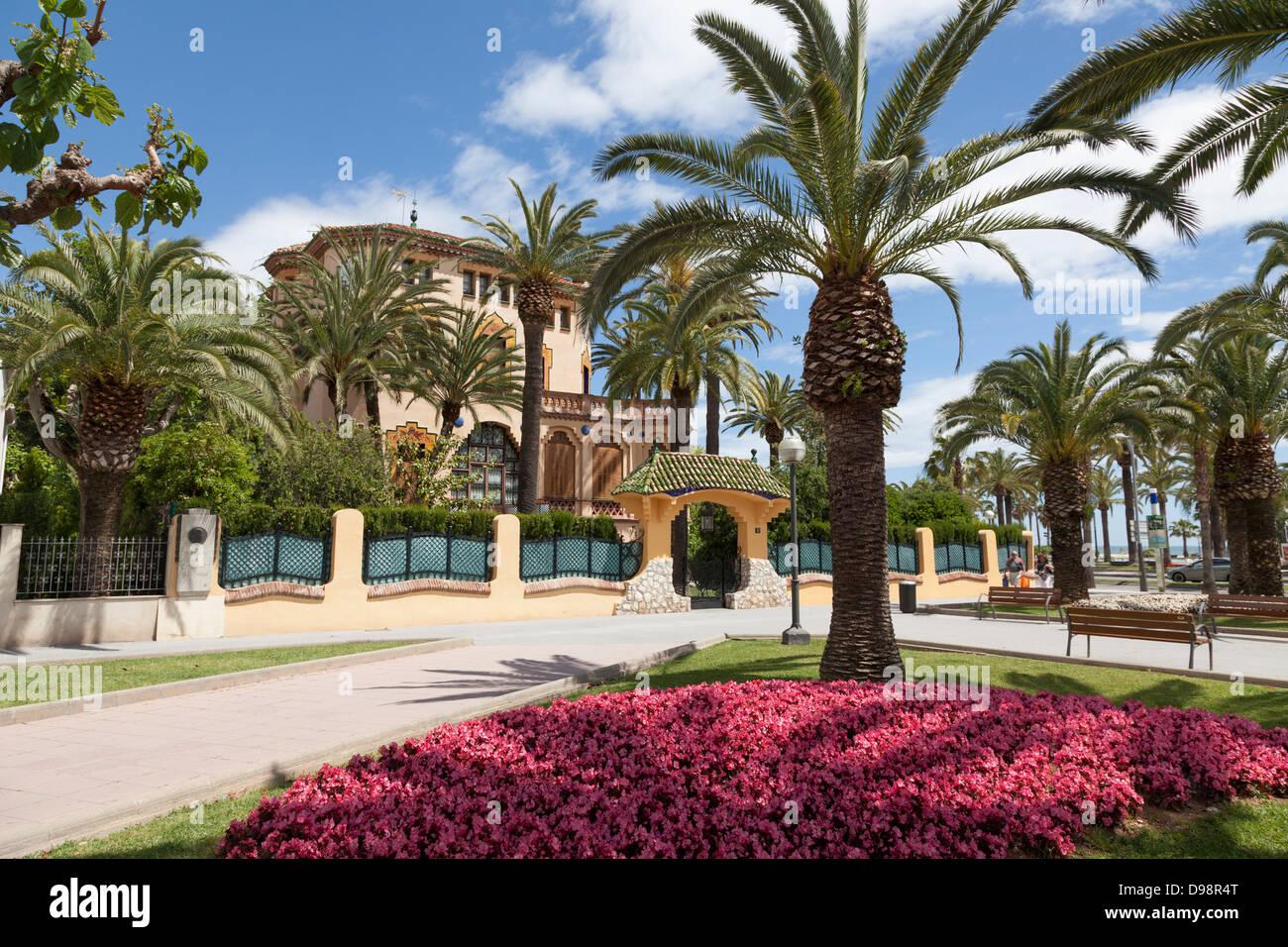 Xalet Bonet modernismo tardío arquitectura en Salou España construido por Ciriac Bonet. Imagen De Stock