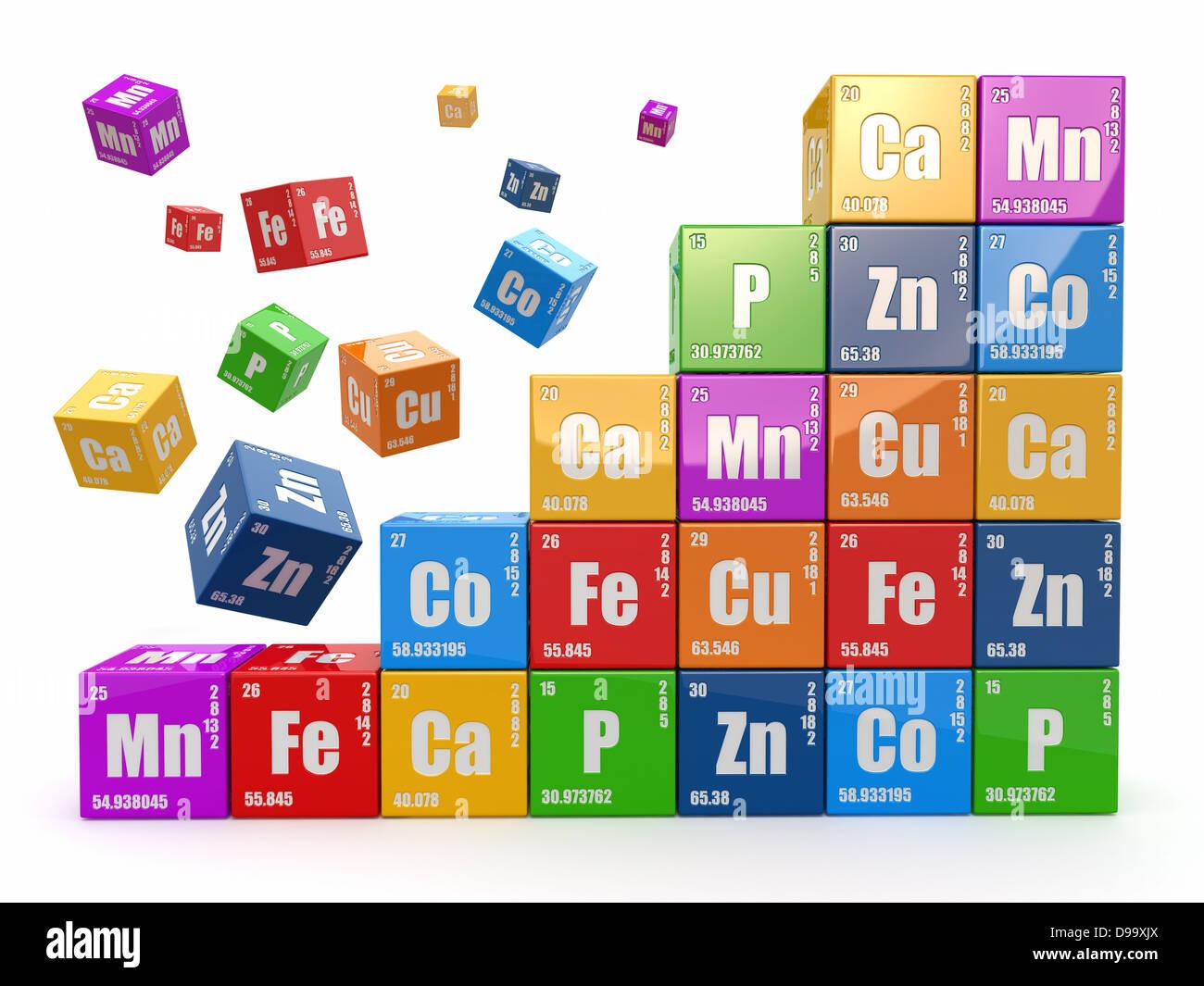 Concepto de qumica muro de cubos wiyh tabla peridica de elementos concepto de qumica muro de cubos wiyh tabla peridica de elementos 3d urtaz Gallery