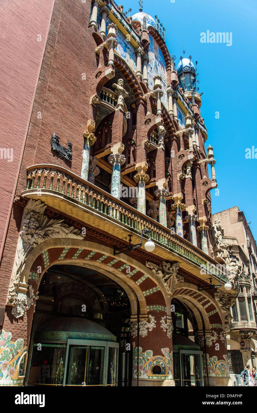 Palau de la Música Catalana (Palacio de la Música Catalana), Barcelona, Cataluña, España Imagen De Stock