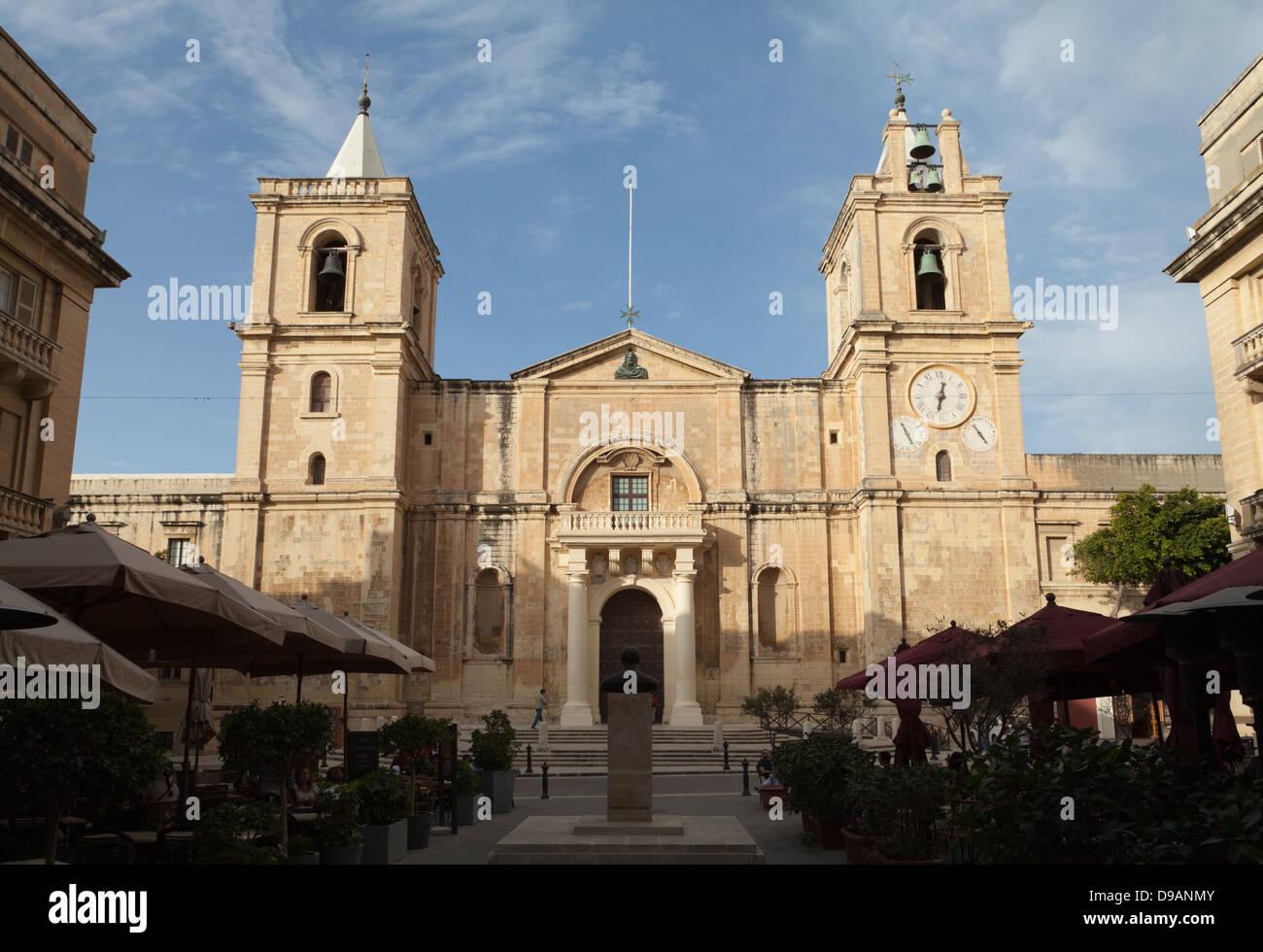 Saint Johns Concatedral, Valletta, Malta. Foto de stock