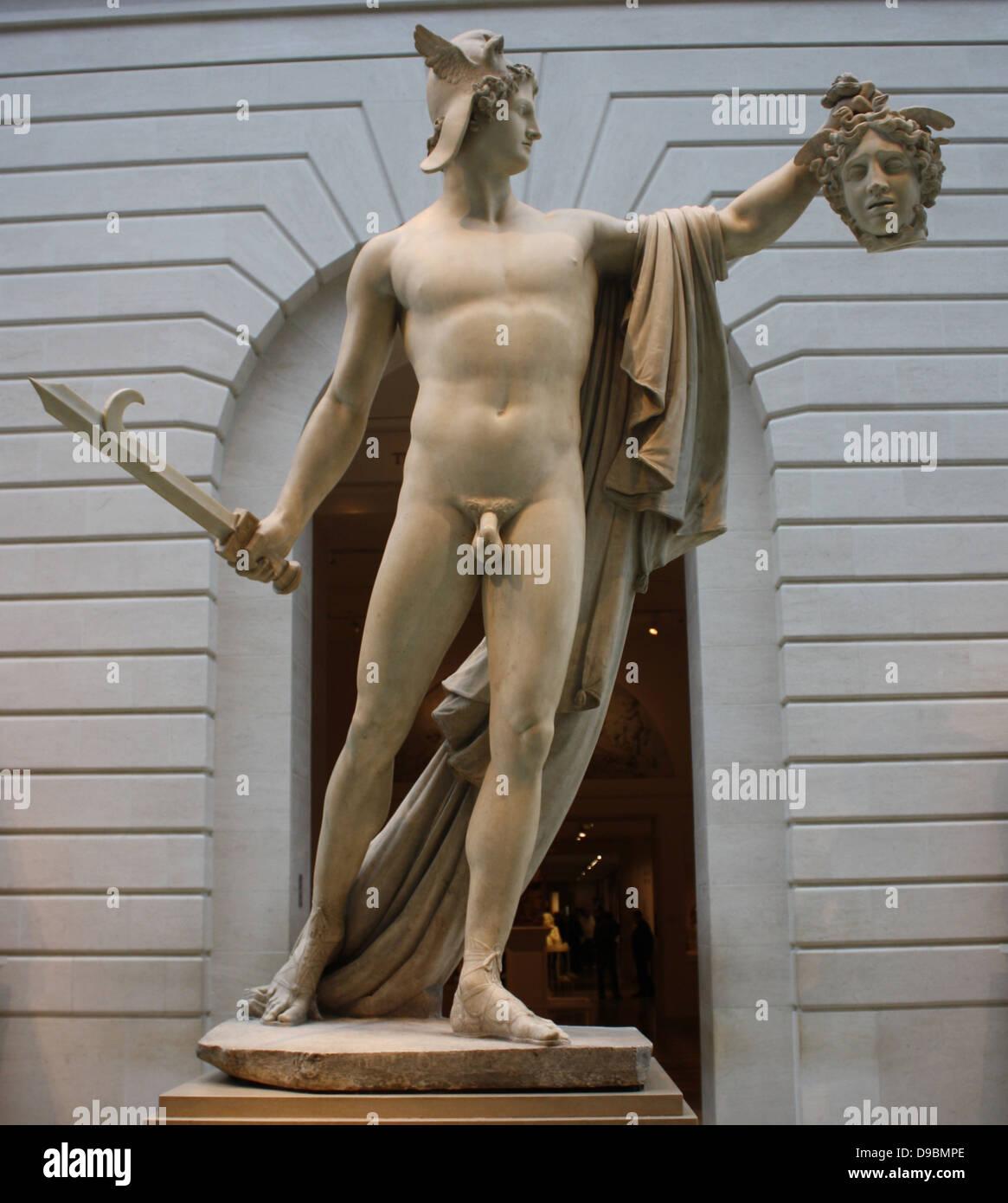 Perseo con la cabeza de Medusa. Mármol. Antonio Canova (1757-1822 ...