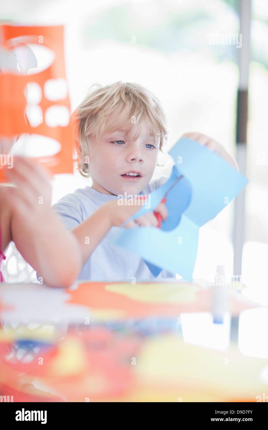 Máscara de niños haciendo parte Imagen De Stock