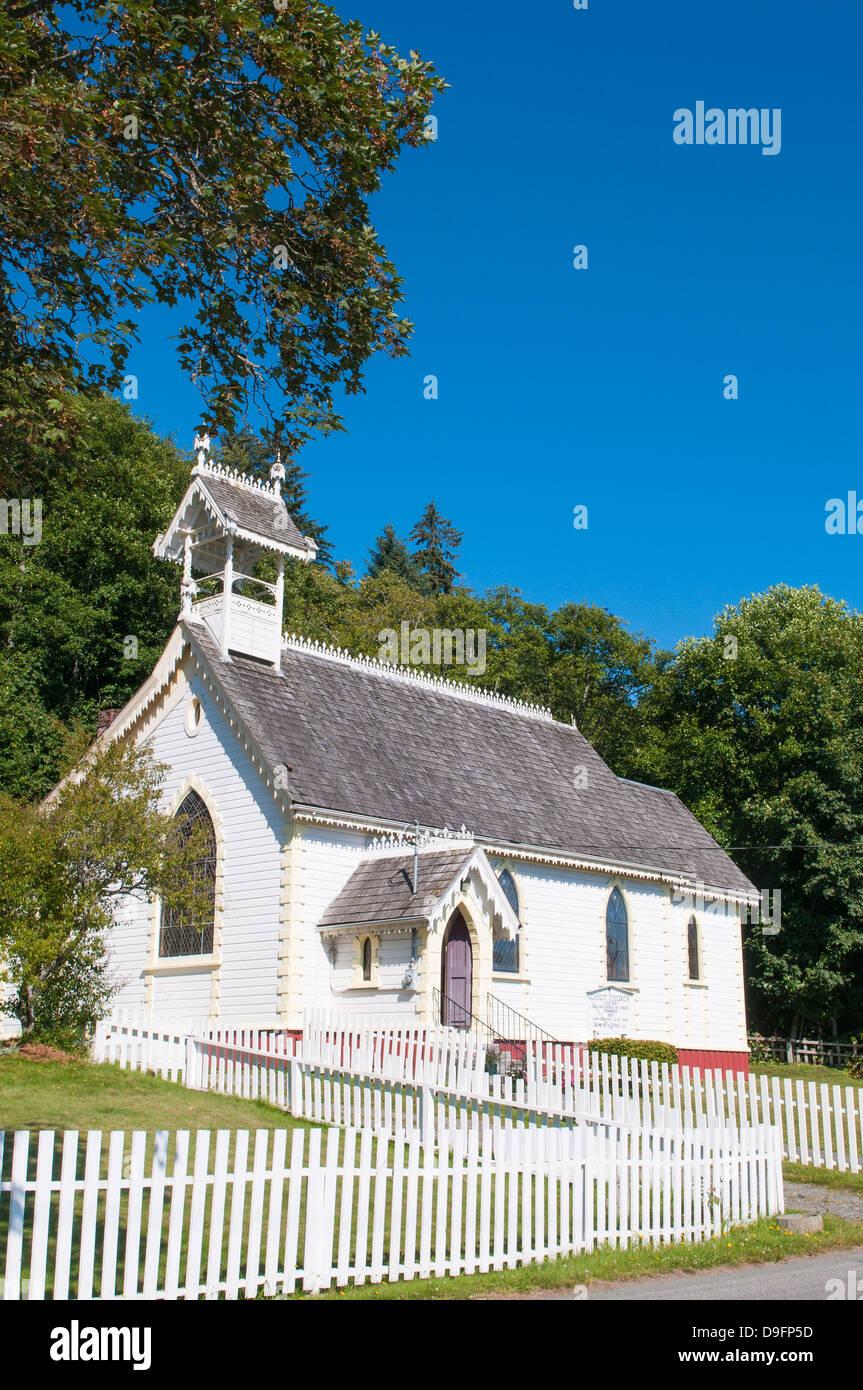 La histórica iglesia Anglicana, Alert Bay, British Columbia, Canadá Imagen De Stock