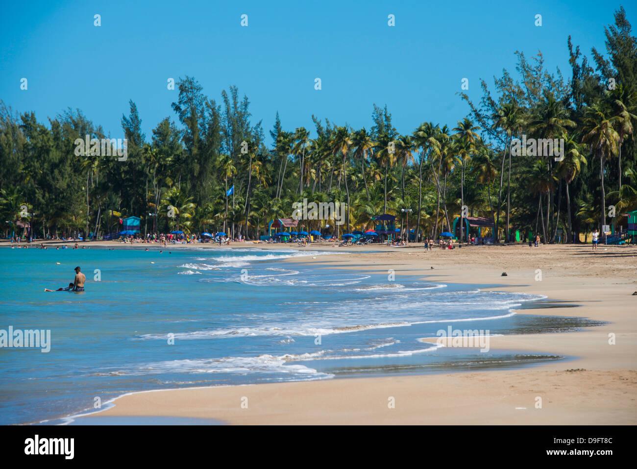 Playa Luquillo, Puerto Rico, Antillas, Caribe Imagen De Stock