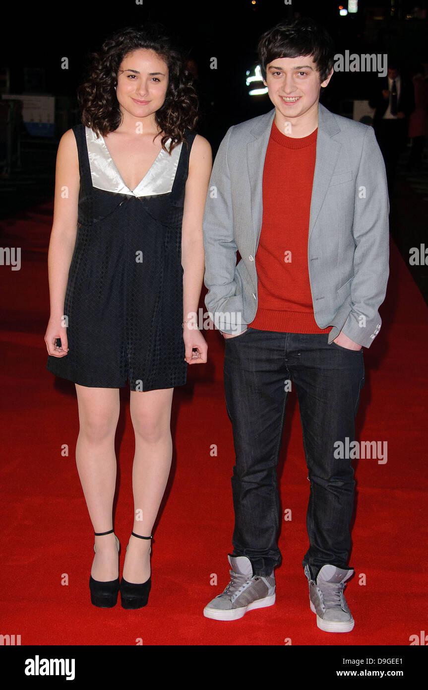 """Yasmin Paige y Craig Roberts UK Film estreno de """"submarino"""" en el BFI Southbank. Londres, Inglaterra  Imagen De Stock"""