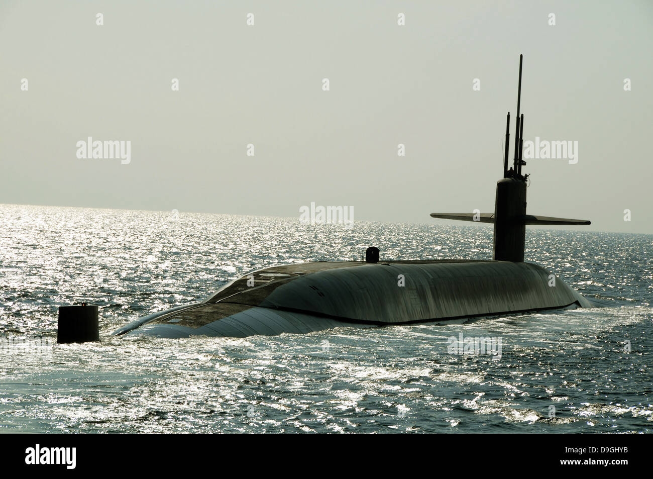 El misil balístico submarino USS Maryland. Imagen De Stock