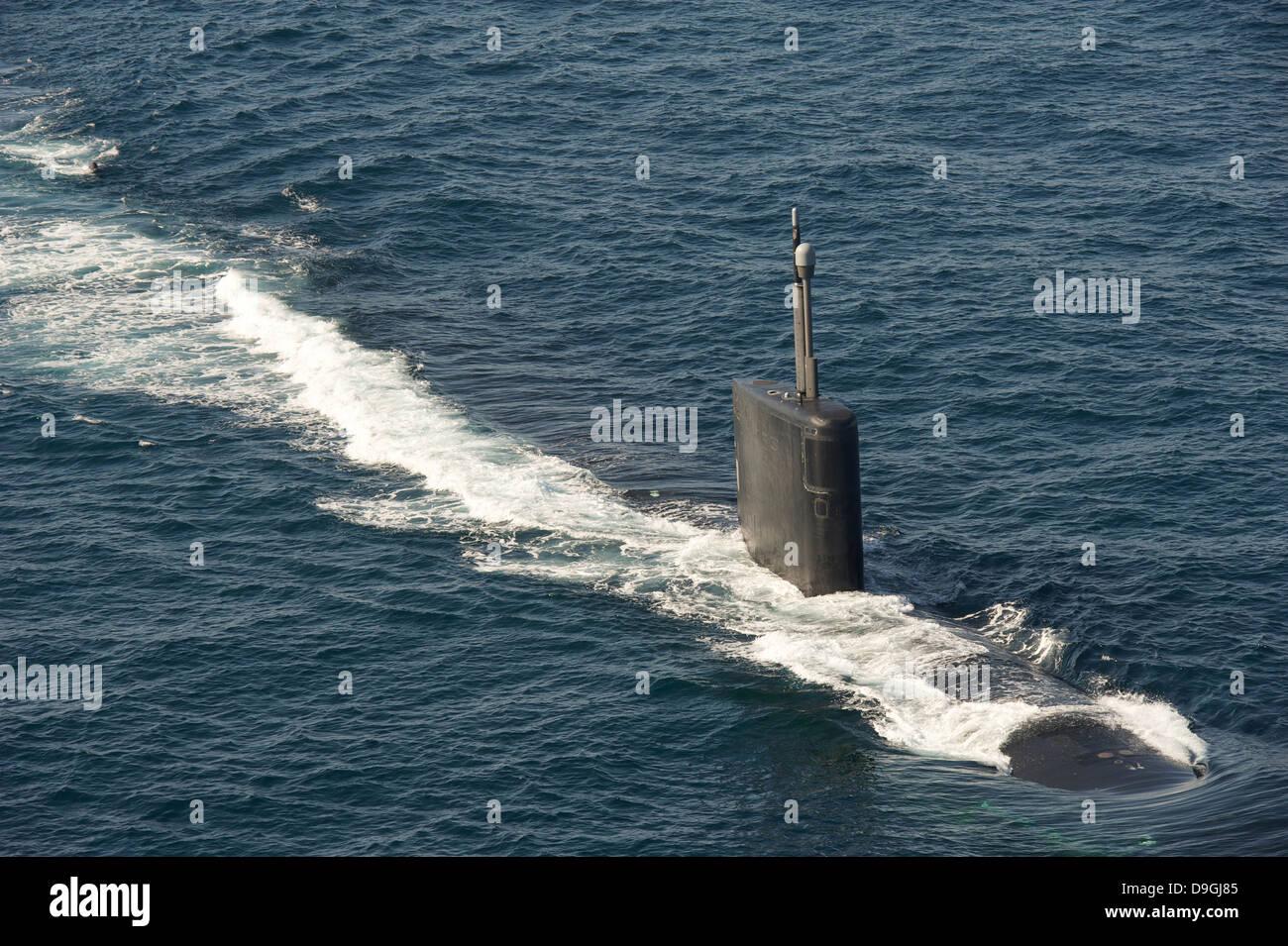 Los Angeles-clase de submarinos de ataque USS Hampton. Imagen De Stock