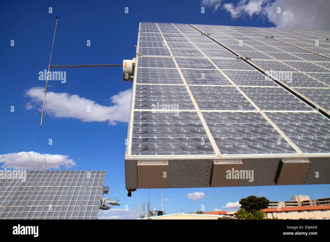 Las Vegas Nevada UNLV Universidad de Nevada, Centro de Investigación de energía solar 7700 Amonix pruebas Imagen De Stock