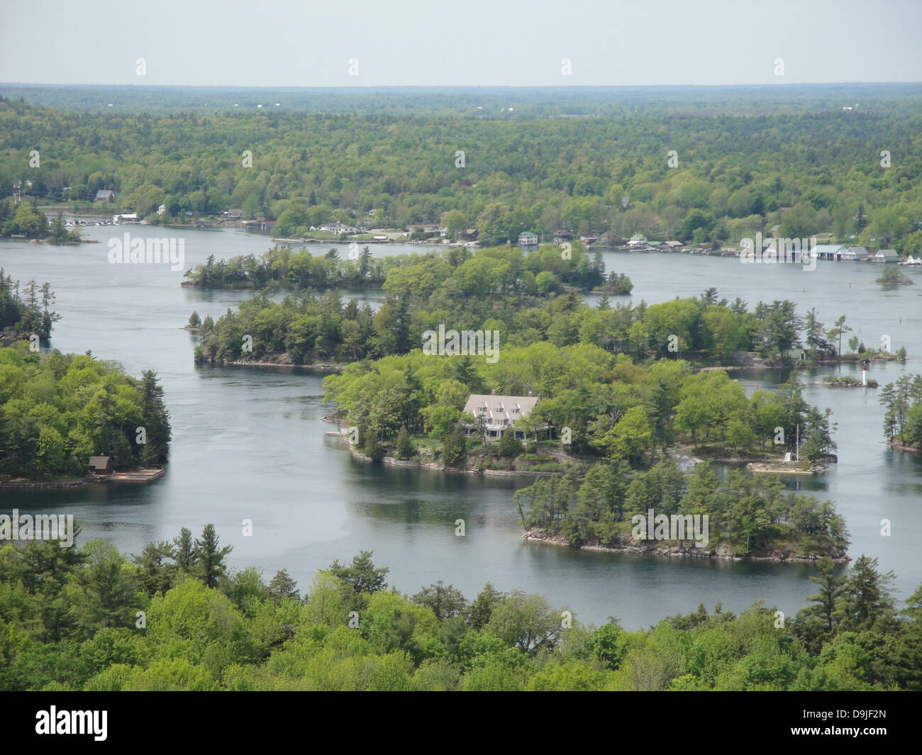 Thousand Island isla naturaleza río bosque América Foto de stock