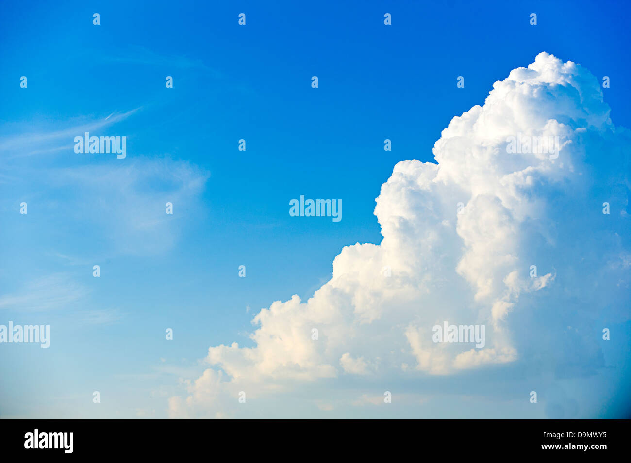 Nubes Cumulus Foto de stock