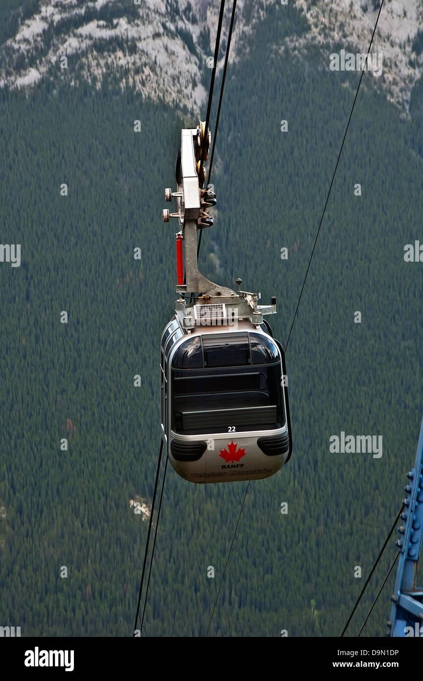 Sulphur Mountain Gondola, Alberta, Canadá Imagen De Stock