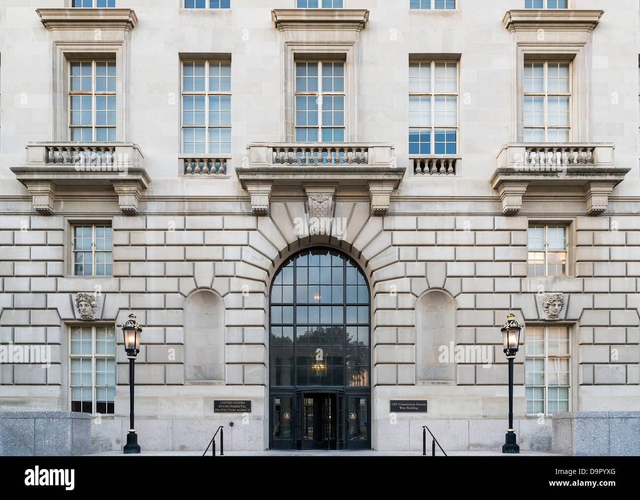 Edificio de la EPA, Agencia de Protección Ambiental de los Estados Unidos, Washington DC, EE.UU. Imagen De Stock