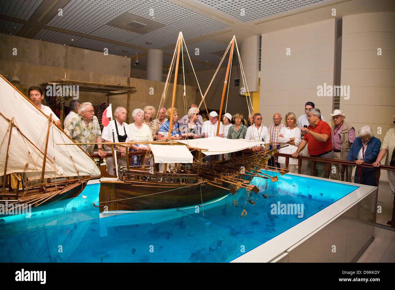 Exhibición en el Museo Nacional de Bahrein, Manama, Bahrein Imagen De Stock
