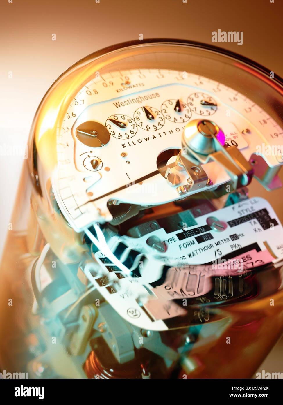 Medidor eléctrico cerrar Imagen De Stock