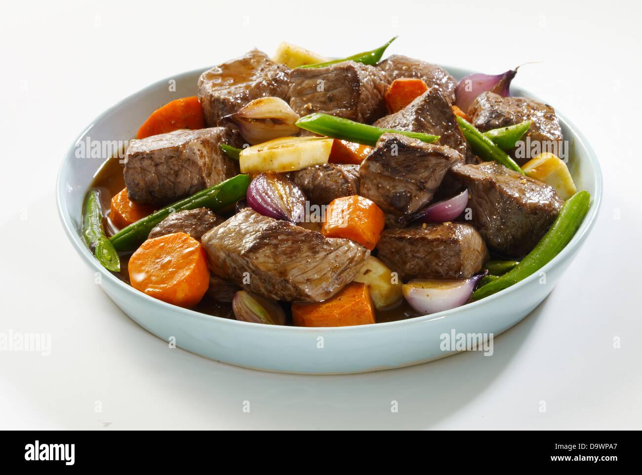 guiso de carne de res Imagen De Stock