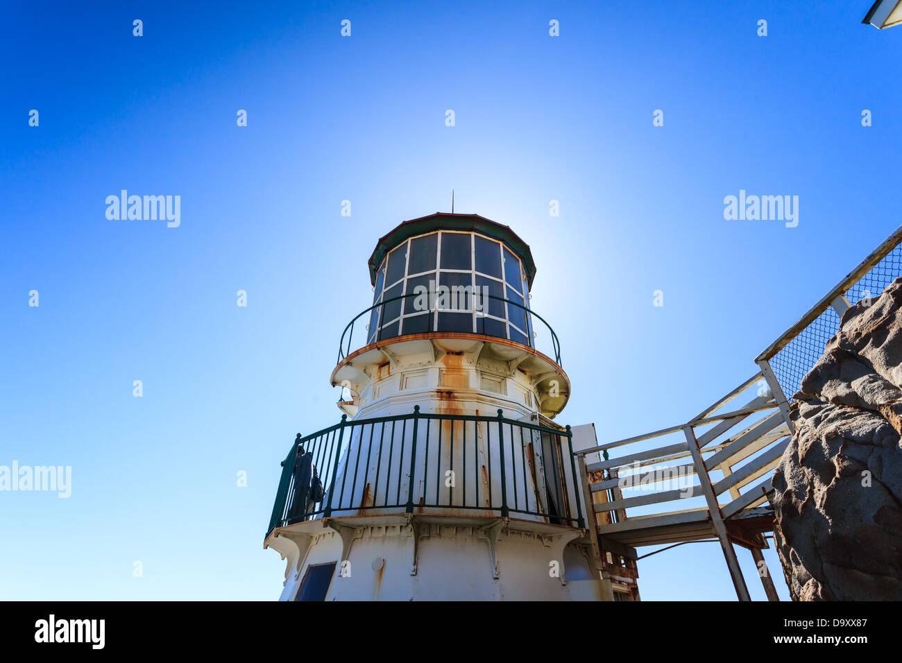La luz en la parte superior del punto de luz bonita casa, cerca de San Francisco, California Imagen De Stock