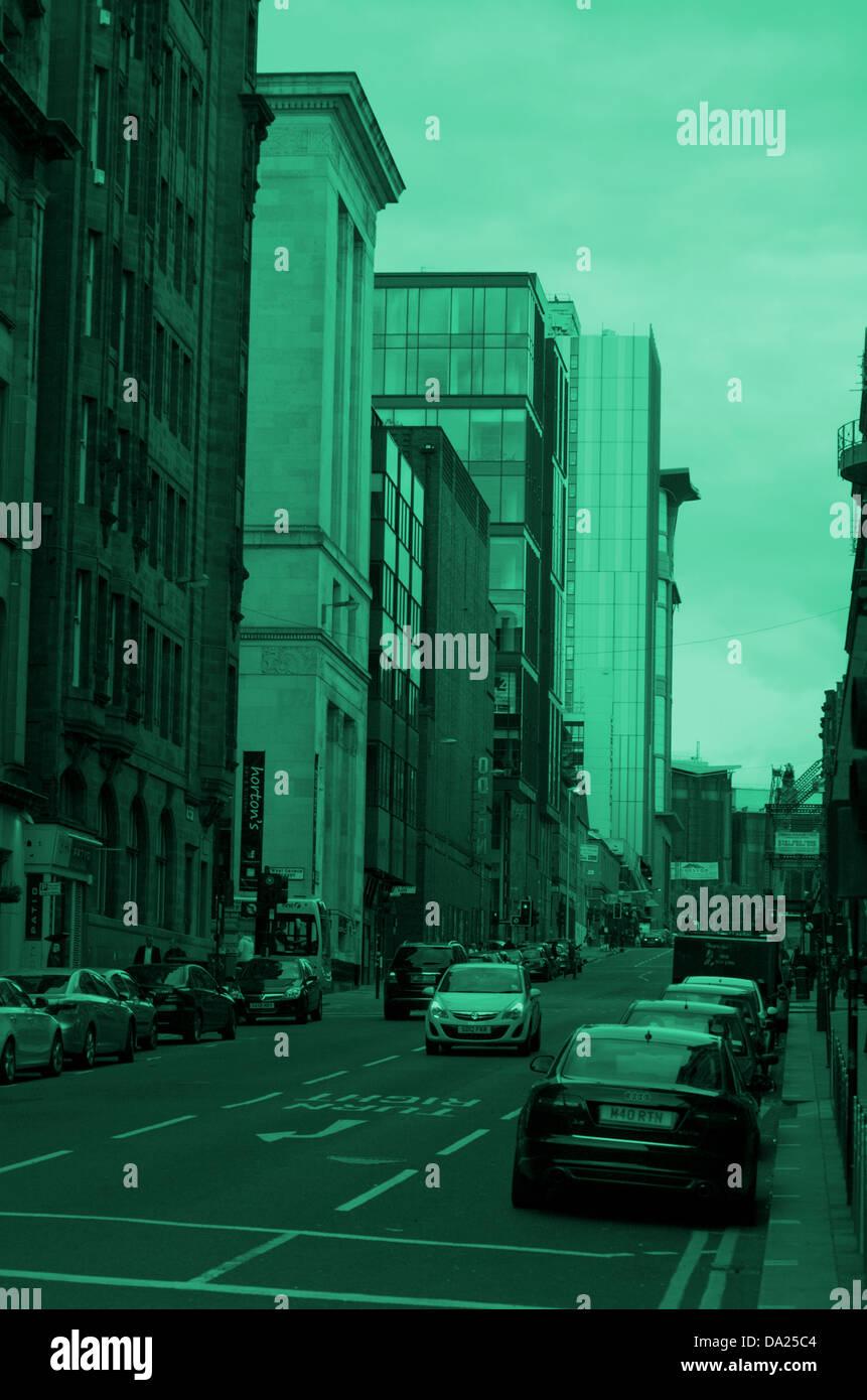 Edificios en West Nile Street en Glasgow, Escocia Foto de stock