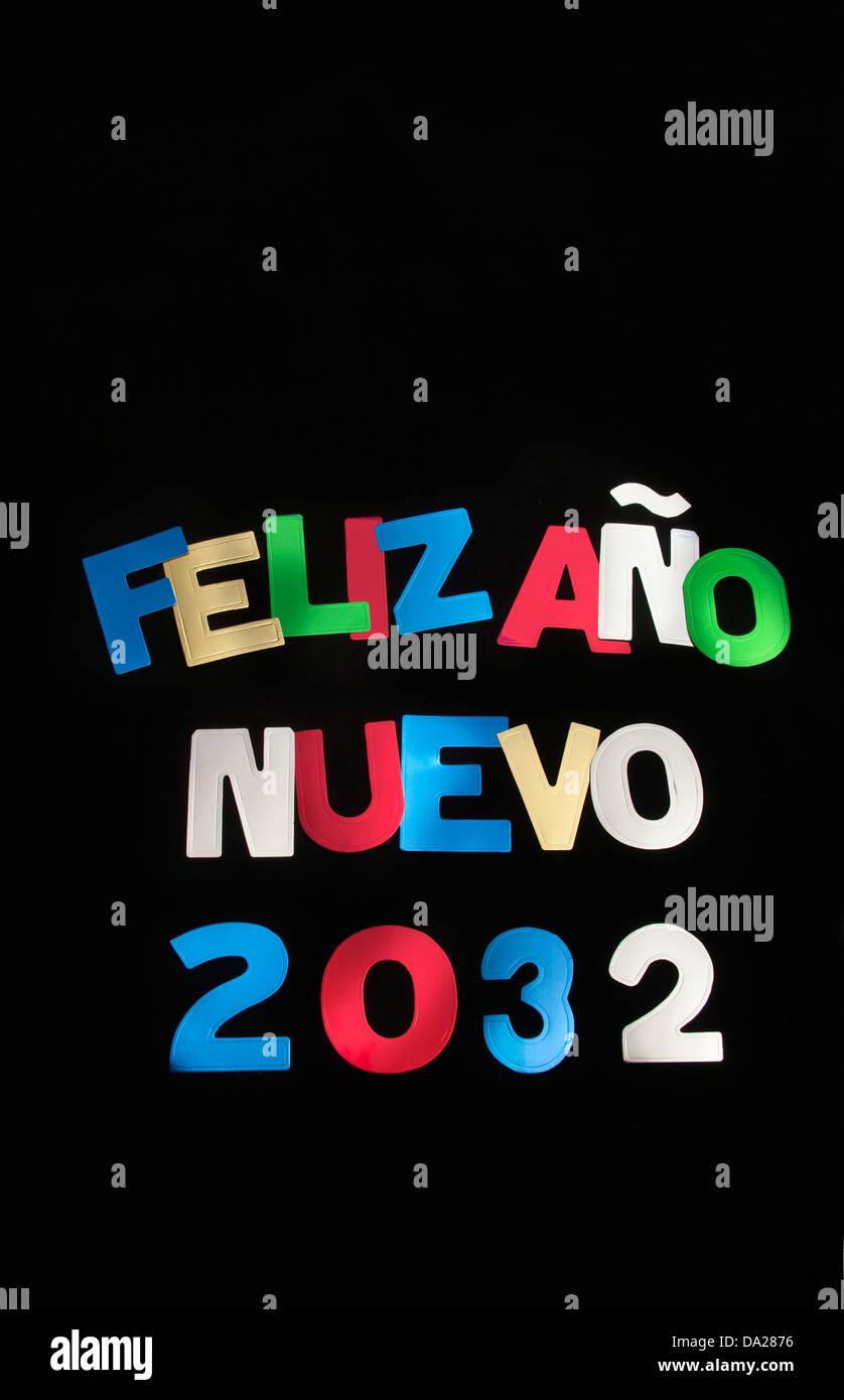 FELIZ ANO NUEVO 2032. Imagen De Stock