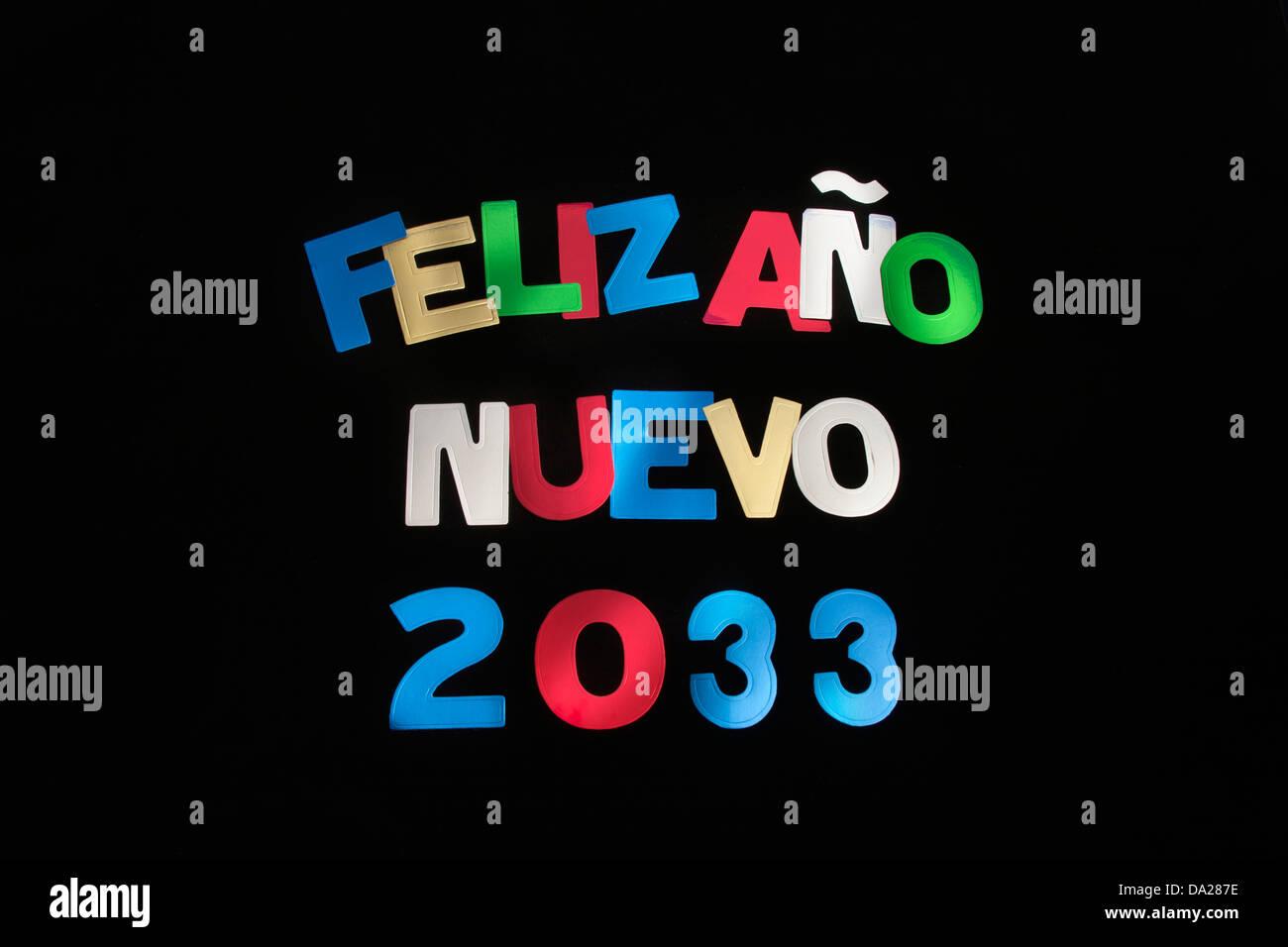FELIZ ANO NUEVO 2033 Imagen De Stock