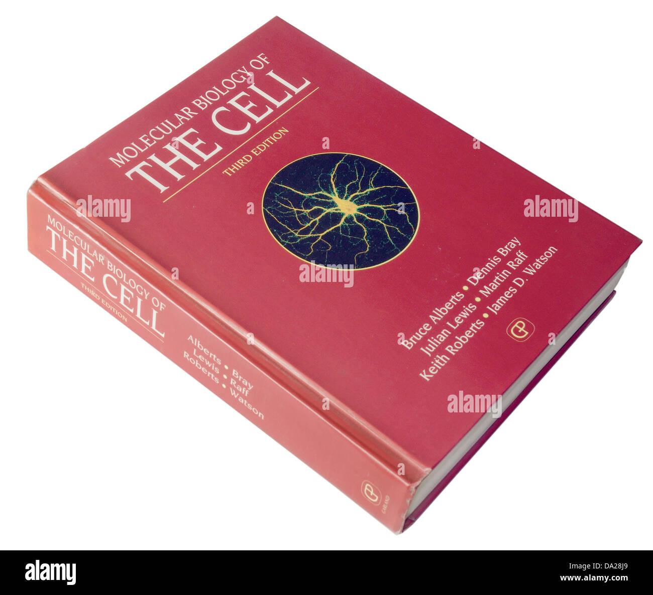 Biología Molecular de la célula libro de medicina Imagen De Stock