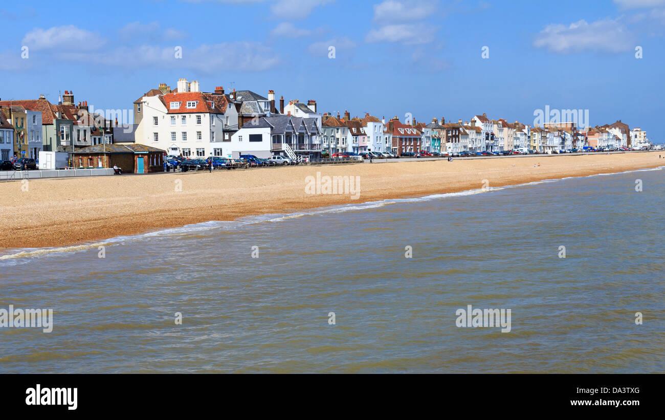 Frente Playa Kent England Reino Unido Imagen De Stock
