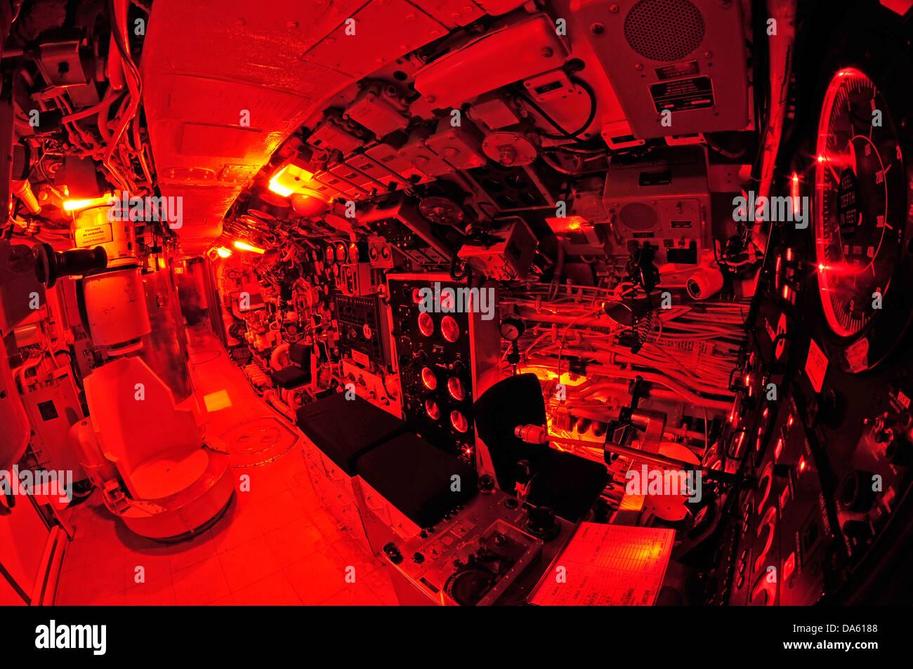 Onondaga, Submarino, Pointe au Pere, Rimouski, Canadá, Québec, históricos, Marina, miltary, interior, Imagen De Stock
