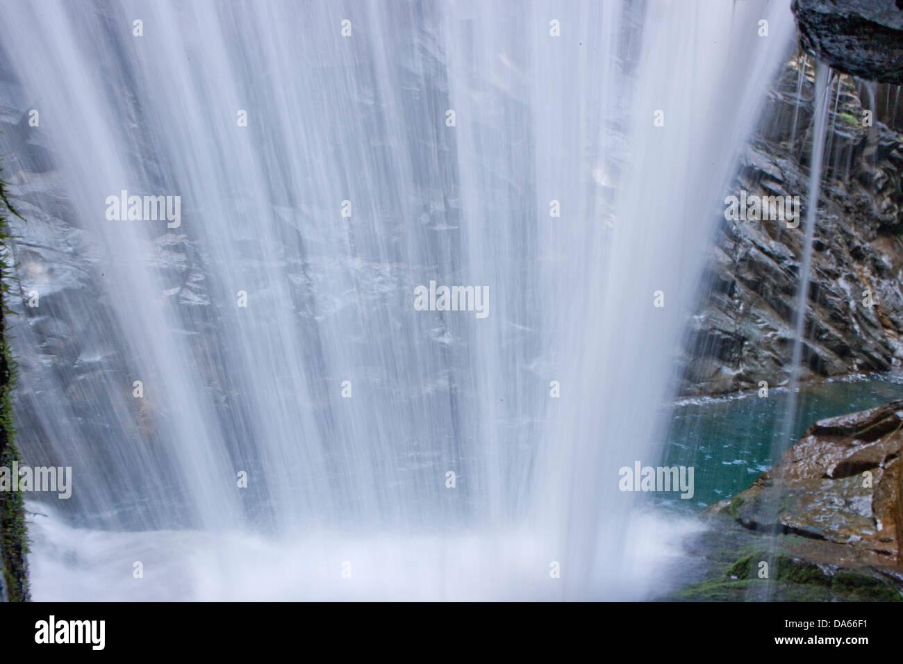 Rofflaschlucht, río, caudal, Brook, cuerpo de agua, agua, quebrada, Canyon, agua, cascada, cantón, GR, Imagen De Stock