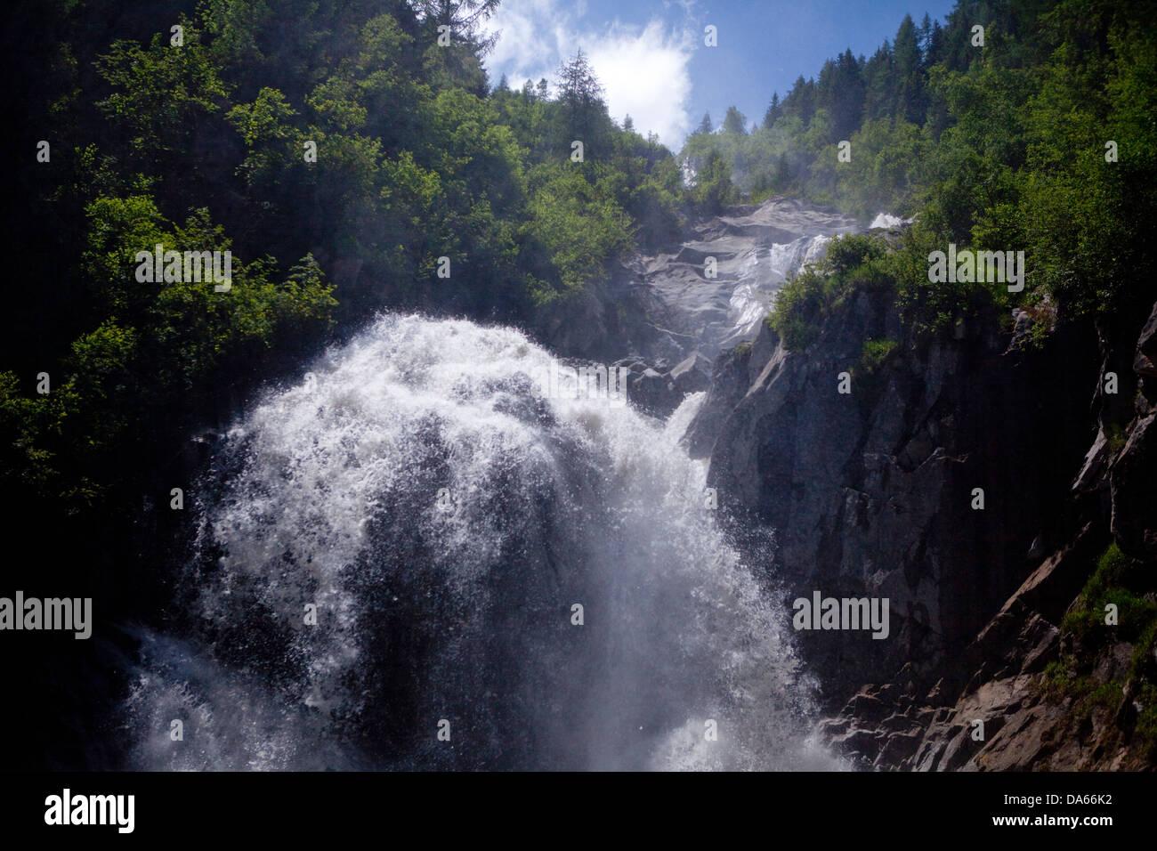 Cascada, Zeitibach, Selden, cantón de Berna, agua, cascada, Suiza, Europa, en el Oberland Bernés, naturaleza Imagen De Stock