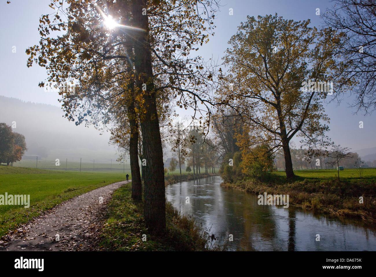 Areuse, Jura, río, caudal, Brook, cuerpo de agua, agua, árboles, árboles, cantón, NE, Neuenburg, Imagen De Stock