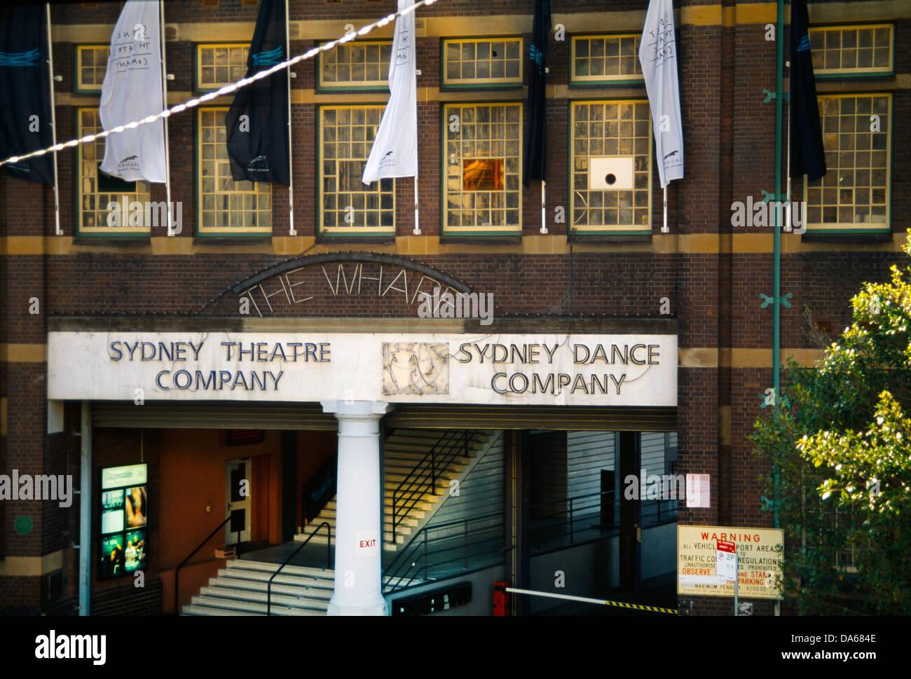 Sydney, NSW, Australia El Wharf & Compañía de Danza Teatro de Sydney Imagen De Stock