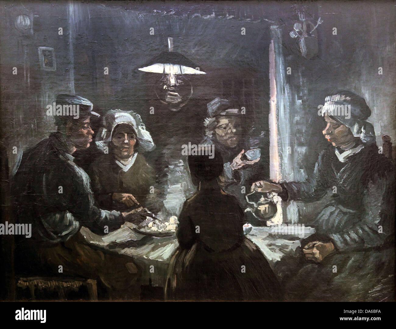 Los comedores de patatas.De Aardappeleters.pintura de ...