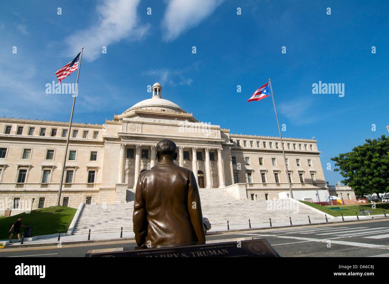 Puerto Rico, el Caribe, Antillas Mayores, Antillas, Capitol, gobierno, construcción, arquitectura, parlamento, Imagen De Stock