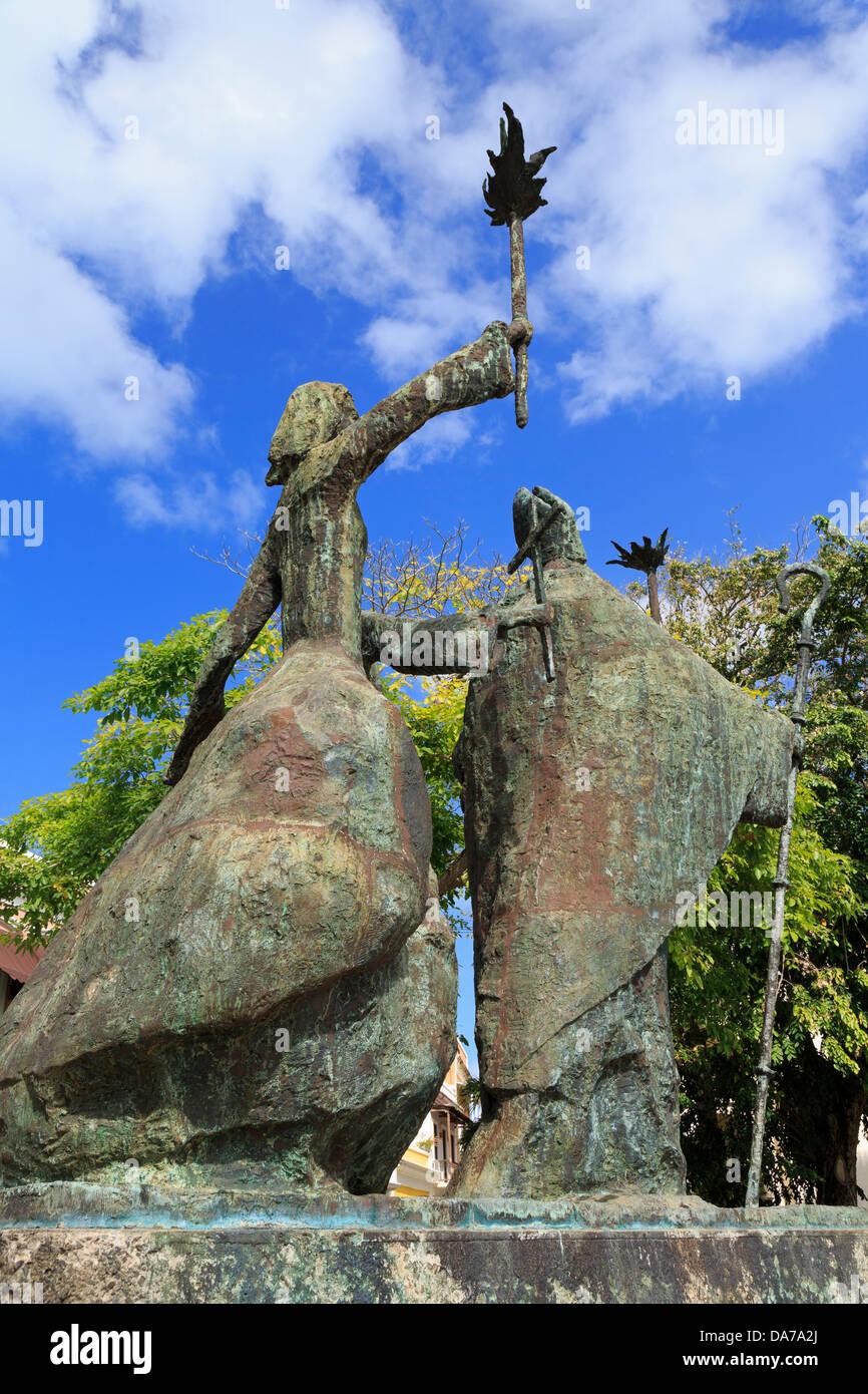 La Rogativa por Lindsay Daen en el Viejo San Juan, Puerto Rico,Caribe Imagen De Stock