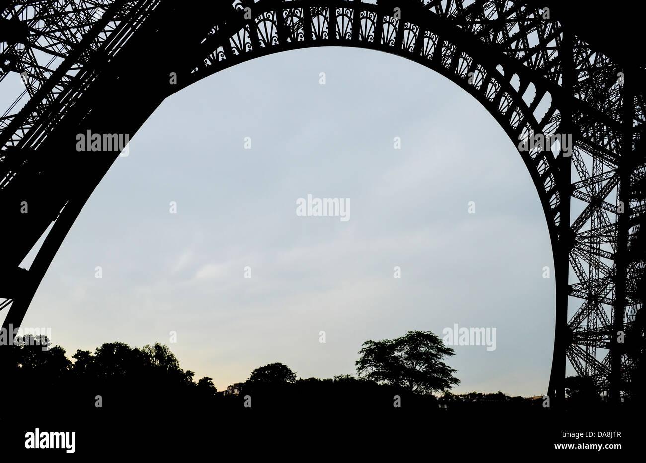 Torre Eiffel, Paris, Francia Foto de stock