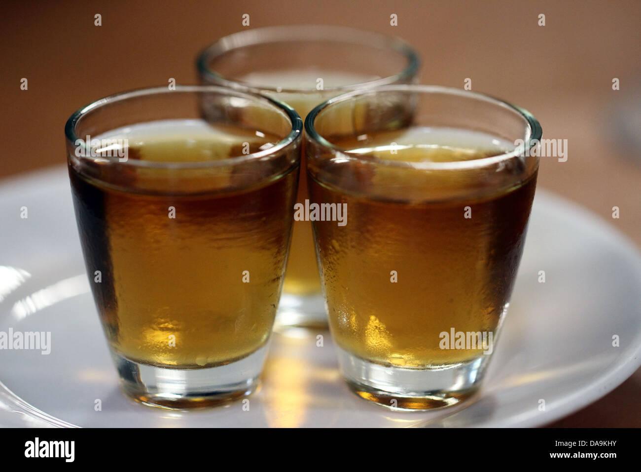 3 inyecciones de alcohol Imagen De Stock