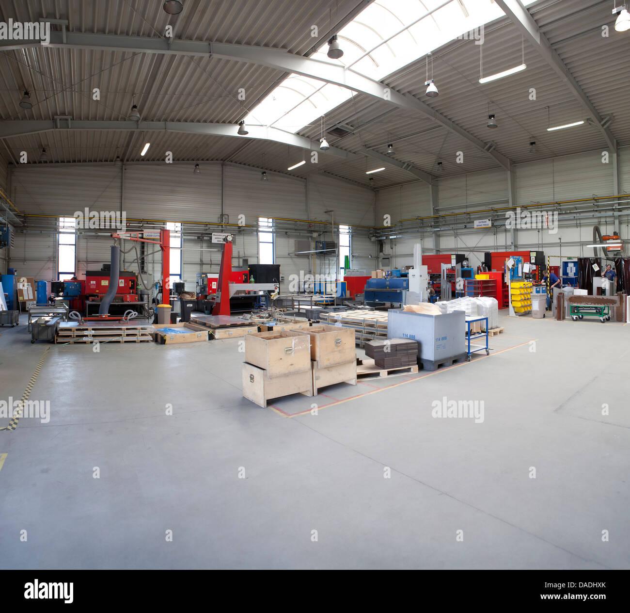 Fabricación moderna fábrica Imagen De Stock