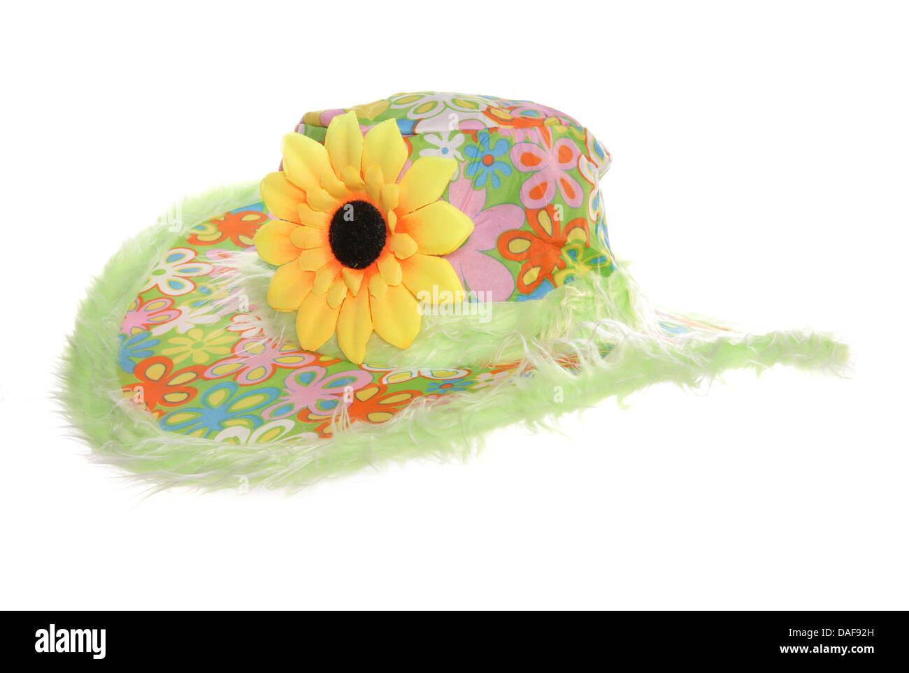 Verano florido hippy hat studio recorte Imagen De Stock