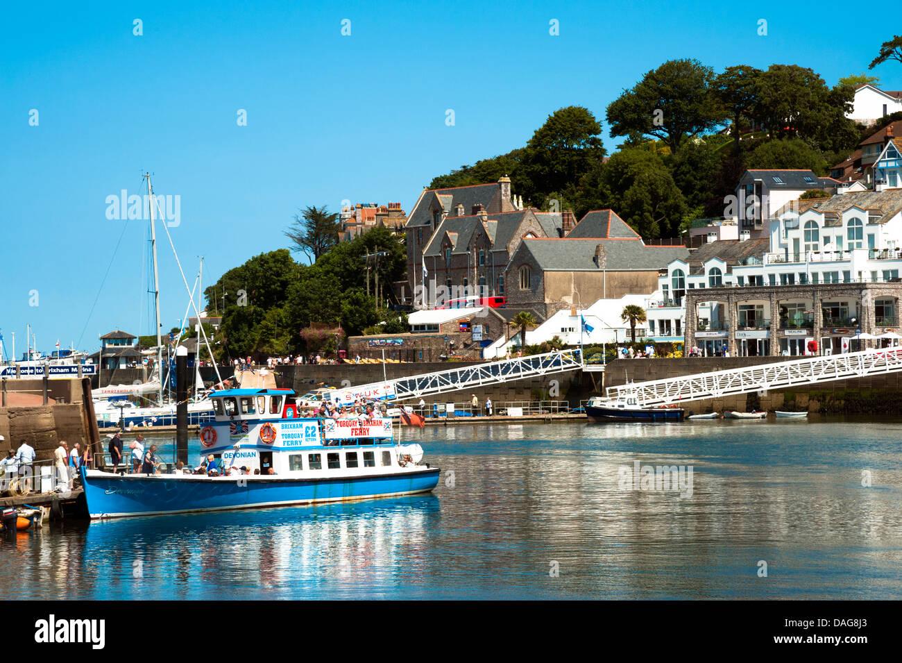 Viaje en barco Brixham Harbor, Torbay, Devon, Reino Unido. Imagen De Stock